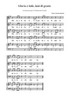 Berzolla-gloria e lode inni di grazie proprio della messa-SCTB